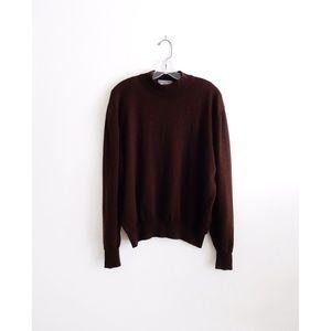 Vtg Lord & Taylor Brown Wool Sweater sz XL